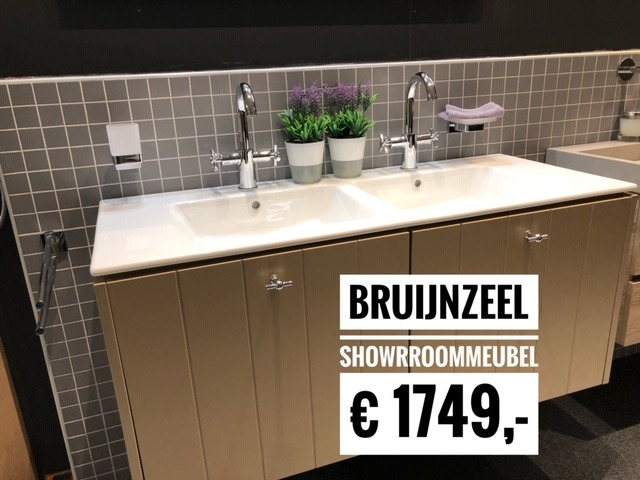 Badmeubel 50 Cm : Showroommodel bruijnzeel badmeubel cm wiesenekker