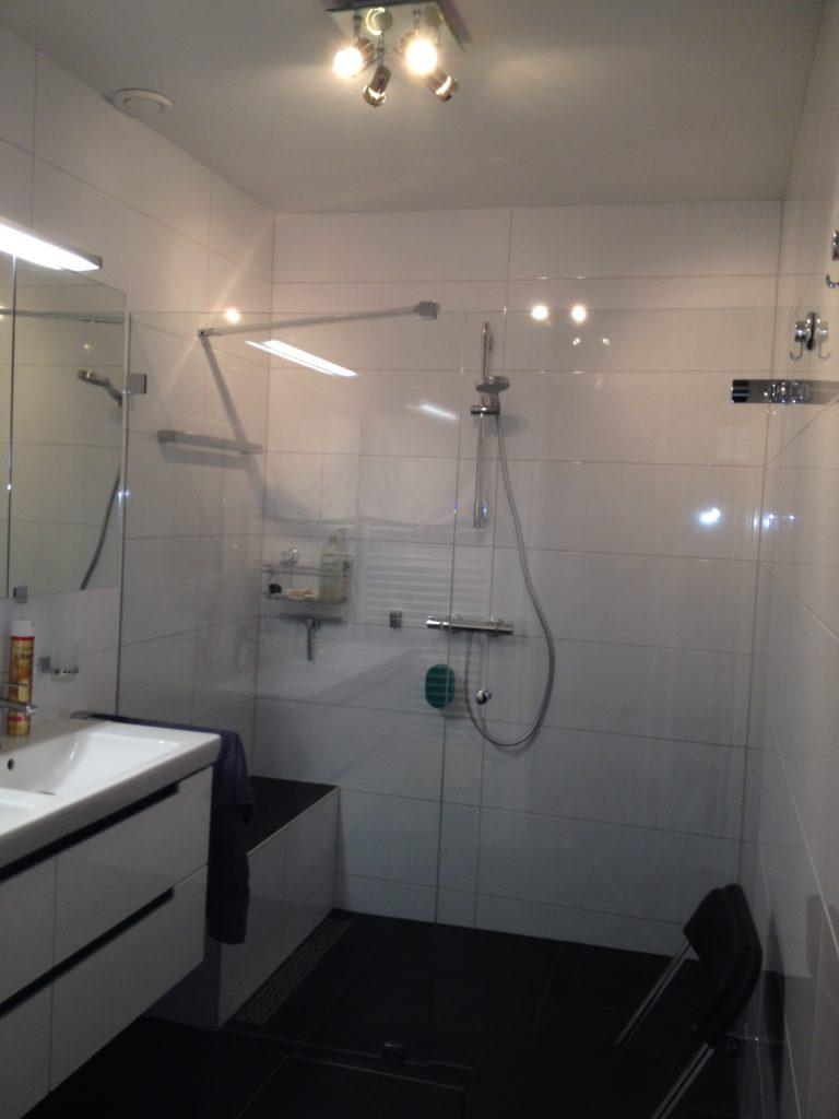 Zitje in badkamer met glas uitsparing Ochten - Wiesenekker ...