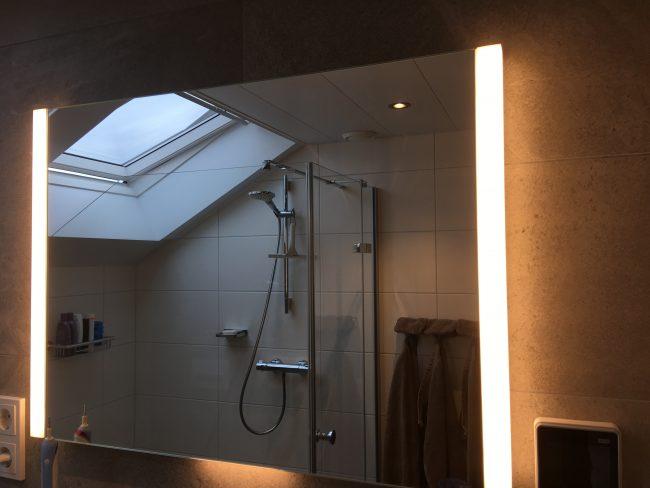 Badkamer douche onder schuine kap wiesenekker badkamerconcepten