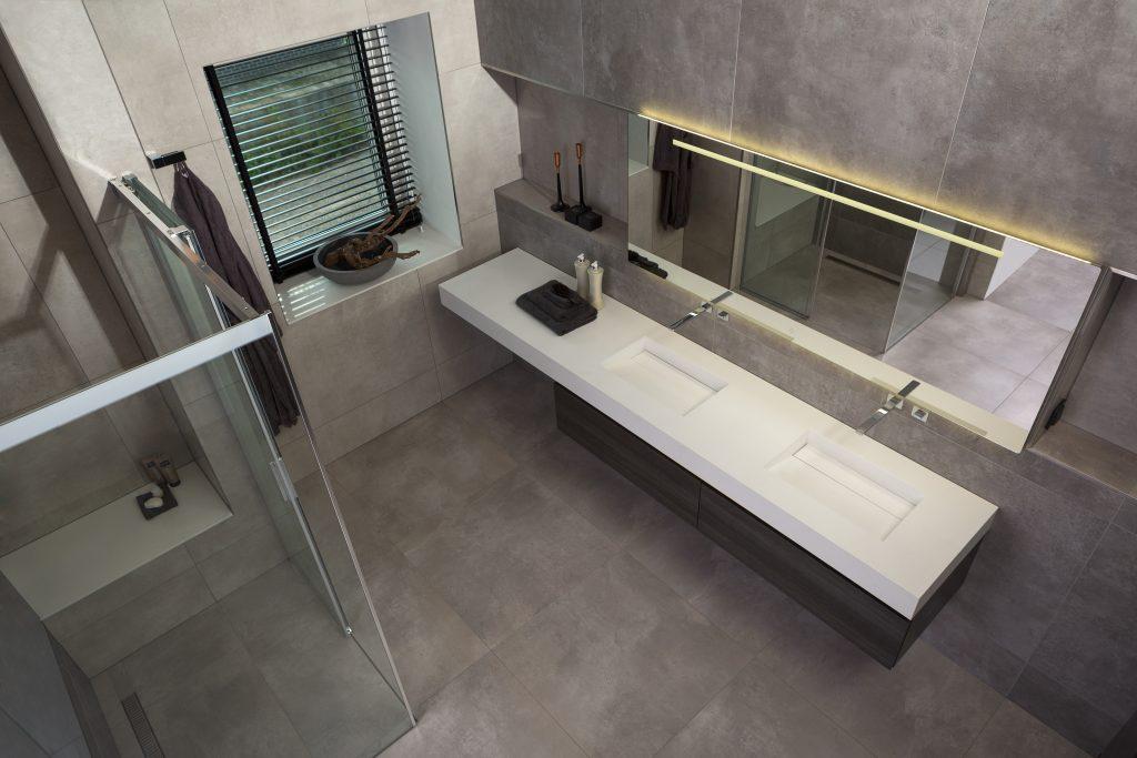 Welke Materialen Badkamer : Van manen badkamers