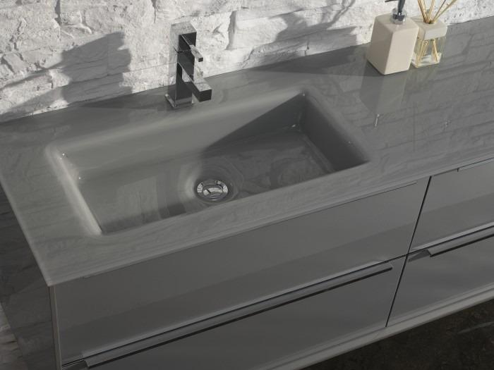 Thebalux badmeubel sense detail wastafel glas grijs 700x525