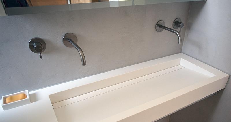 Hoek wastafel badkamer woon my industrial interior hoe richt ik een kleine badkamer moderne - Zwarte hoek bad ...