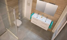 Badkamer strak ontwerp